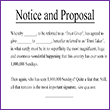 Notices and Proposals