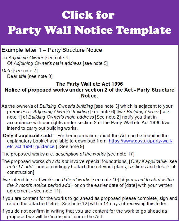 Party Wall Letter Template Of Party Wall Agreement