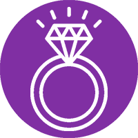Transfer of Land Ownership due to Marriage from SAM Conveyancing: An engagement ring icon