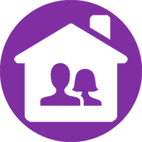 Transfer of Land Ownership due to moving in together from SAM Conveyancing: The silhouetted busts on a man and woman inside a house icon